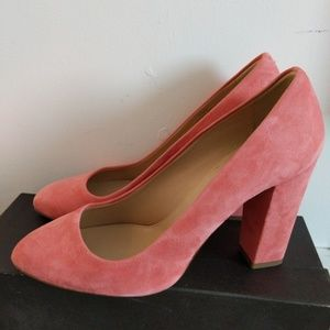 J.Crew pink suede shoes